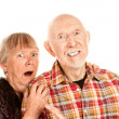Shocked Senior Couple — Stock Photo
