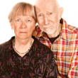 Concerned senior couple — Stock Photo