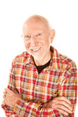 Handsome senior man with infectious smile — Stock Photo