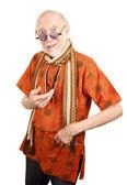 New Age Senior Man — Stok fotoğraf