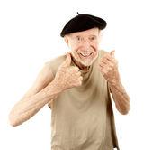 Senior man in beret — Stock Photo