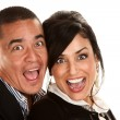 Hispanic Couple Laughing — Stock Photo #40100711