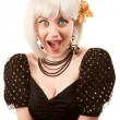 Stock Photo: Retro womwith white hair