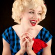 Pretty Retro Blonde Woman — Stock Photo #40106431