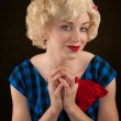Pretty Retro Blonde Woman — Stock Photo #40107241
