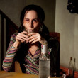 Stock Photo: Alcoholic woman