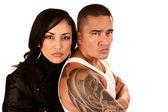 Tough Hispanic Couple — Stock Photo