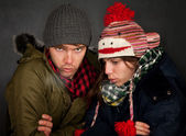 Bundled Up Couple — Stock Photo