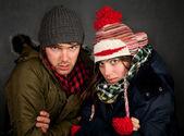 Bundled Up Couple — Stock Photo