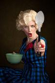 Pretty Retro Blonde Woman — Stock Photo