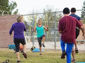 Mature Fitness Instructor Teaching — Stock Photo