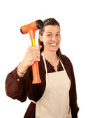 Do-It-Yourself Woman — Stock Photo