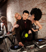 Handsome Asian DJ — Stockfoto