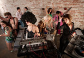 1970s Disco Music Party Fun — Stock Photo