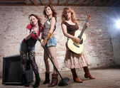 Female musicians — Stockfoto