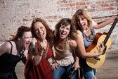 Female musicians — Stock Photo