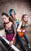 Kadın punk rock grubu — Stok fotoğraf