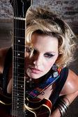 Female punk rocker — Stock Photo