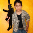 Stock Photo: Hispanic Boy with Toy Gun