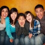 Hispanic Family with Big Reaction — Stock Photo #40314983