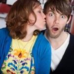 Surprise kiss — Stock Photo #40315287