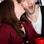 Surprise kiss — Stock Photo #40315619