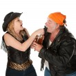 Stock Photo: Beer brawl