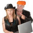 Stock Photo: Couple with laptop