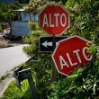 Alto signs in Santa Elena Costa Rica — Stock Photo