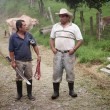 Handsome male ranch hands in Costa Rica — Stock Photo