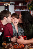 A complicated love triangle — Stock Photo