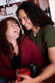 Caucasian and Native American couple — Stock Photo