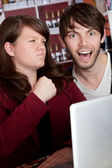 Internet abuse — Stock Photo