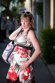 Uncomfortable pregnant woman — Stockfoto