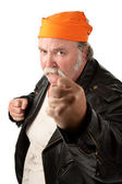 Fat gang member — Stock Photo