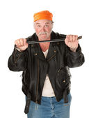Criminal with Crowbar — Stock Photo