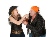 Beer brawl — Stock Photo
