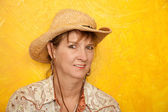 Pretty Western Woman — Stock Photo