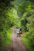 Tourists on horseback in Costa Rica — Stock Photo