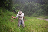 Costa Rican ranch hand — Stock Photo