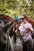 Tourist in Costa Rica with Horse — Stock fotografie