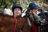 Equestrian Couple — Stock Photo