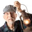 Stock Photo: Railroad mholding lantern