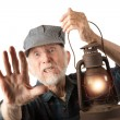 Railroad mholding lantern — Stock Photo #40379297