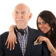 Rich elderly man with wife — Stock Photo #40379387