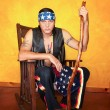 Foto Stock: Native Americman