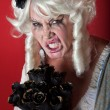 Stock Photo: Womdressed as scary Marie Antoinette