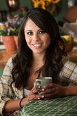 Woman with mug — Foto Stock