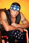 Native American man — Stock Photo