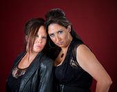 Tough and beautiful New Jersey style women — Stock Photo